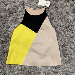 Zara Tops - Zara color block tank top